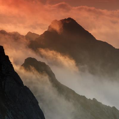 Wschód słońca w Tatrach Wysokich